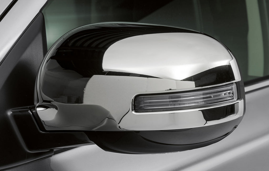 Mitsubishi Mirror Covers, Chrome - vehicles with side indicators