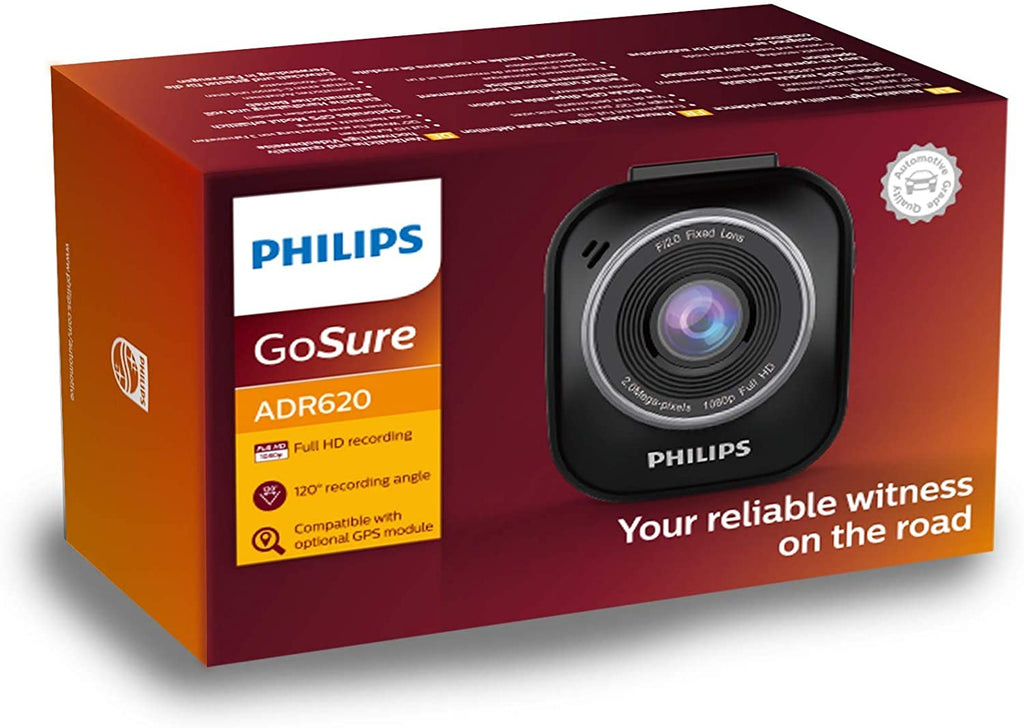 Philips GoSure ADR-620 Dash Cam with Micro SDHC