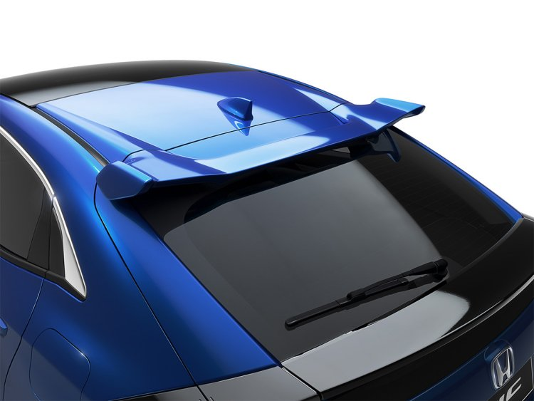 Honda Civic 5DR Tailgate Spoiler, Polished Metal