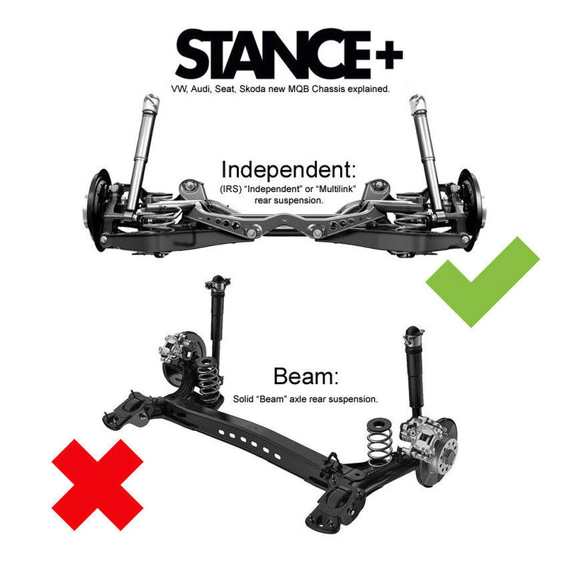 Stance+ Street Coilovers Suspension Kit Audi A3 8V 2.0TFSi 2.0TDi 1.4 TFSi