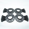 Bimecc Black Alloy Wheel Spacers Audi 5x100 57.1mm  12mm / 15mm Set of 4 + Radius Bolts
