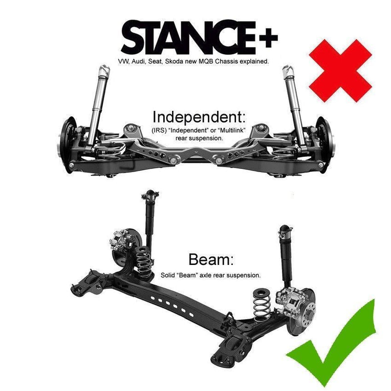 Stance+ Street Coilovers Suspension Kit VW Golf Mk7 1.0-1.4 GTE SOLID BEAM
