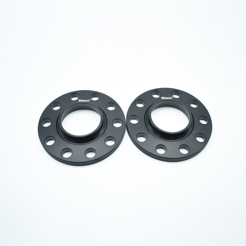Bimecc Black Alloy Wheel Spacers Audi 5x112 66.6mm 15mm Pair