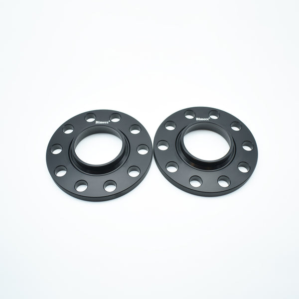 Bimecc Black Alloy Wheel Spacers Audi 5x112 57.1mm 12mm Pair