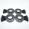 Bimecc Black Alloy Wheel Spacers Audi 5x100 57.1mm  12mm / 15mm Set of 4 + Tapered Bolts