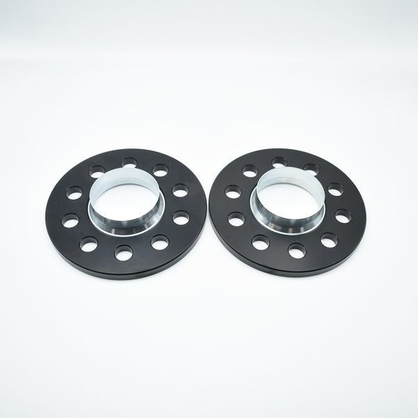 Bimecc Black Alloy Wheel Spacers Audi 5x112 66.6mm 10mm Pair