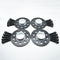 Bimecc Black Alloy Wheel Spacers Audi 5x112 66.6mm 10mm Set of 4 + Radius Bolts