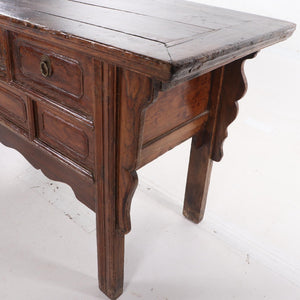 Antique Chinese Elm Sideboard