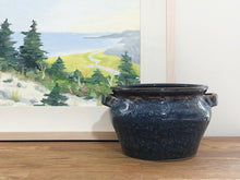 Load image into Gallery viewer, Blue and Brown Glazed Urn