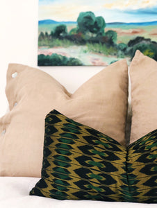 "Indonesian Ikat Pillow Cover 26""x13"""