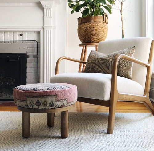 Vintage Rug Footstool by Trim Design Co.