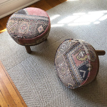 Load image into Gallery viewer, Vintage Rug Footstool by Trim Design Co.
