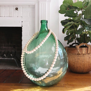 Large Green Glass Jug