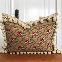 Load image into Gallery viewer, French Provincial Aubusson Needlepoint Throw Pillow with Tassels