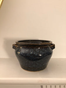 Blue and Brown Glazed Urn