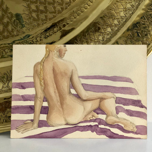Vintage Nude Watercolor
