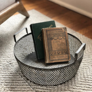 Rustic Industrial Metal Basket