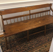 Load image into Gallery viewer, Antique Deacon's Bench