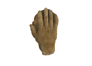Plaster Hand Cast, Signed by Artist