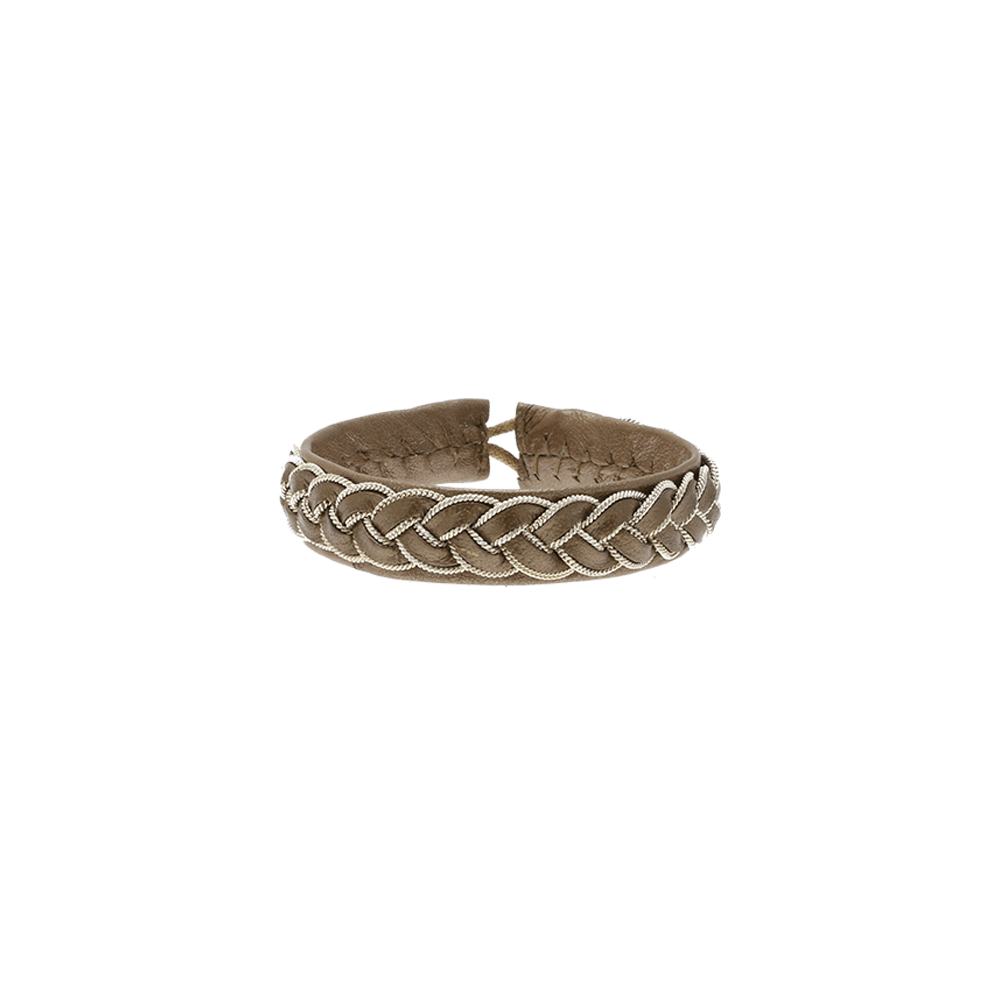 By Who - 100257 Bracelet braided camel ♀