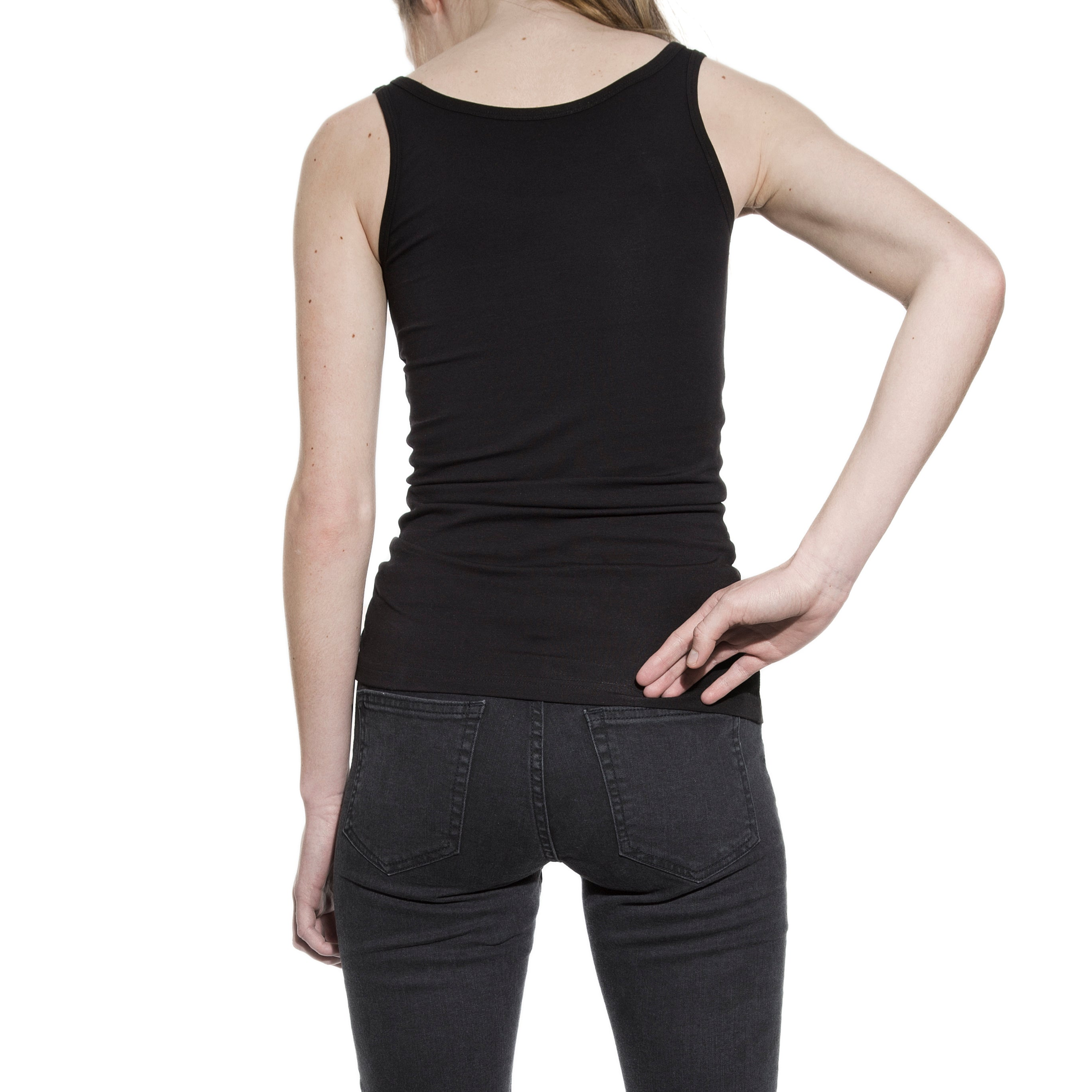 Bread & Boxers - 605102 Tank ribbed sort ♀