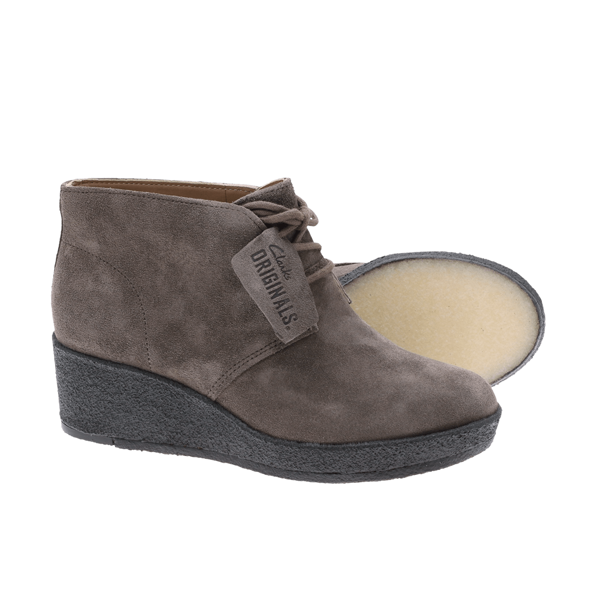 Clarks originals skoletter med wedge såle