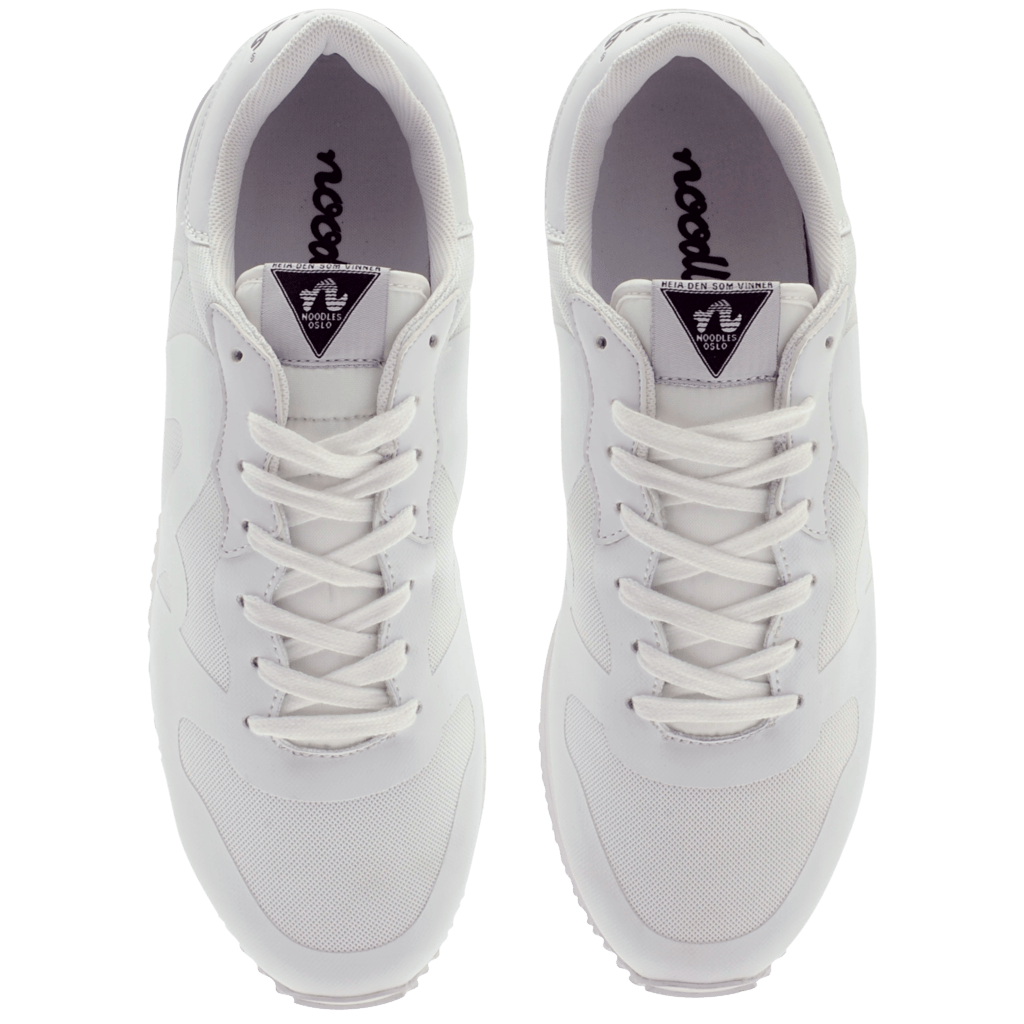 Noodles Runabout hvite sneakers