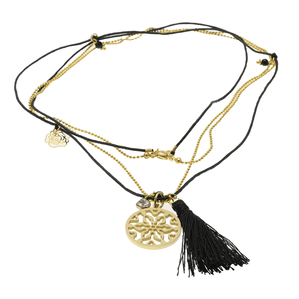 By Who - 100759 Necklace tassel twice sort ♀