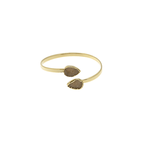 By Who - 100688 Bangle natural druzy stone ♀