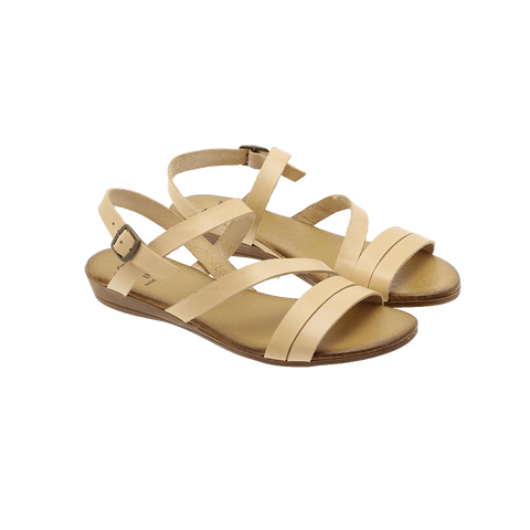 Effortless - P72 Vachetta flat sandal nude ♀