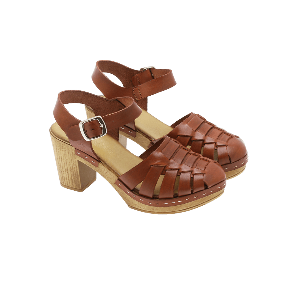 Effortless - P63 Vachetta flettet sandal solbrun ♀