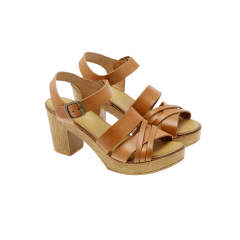 Effortless - P26 Vachetta multistrap sandal camel ♀