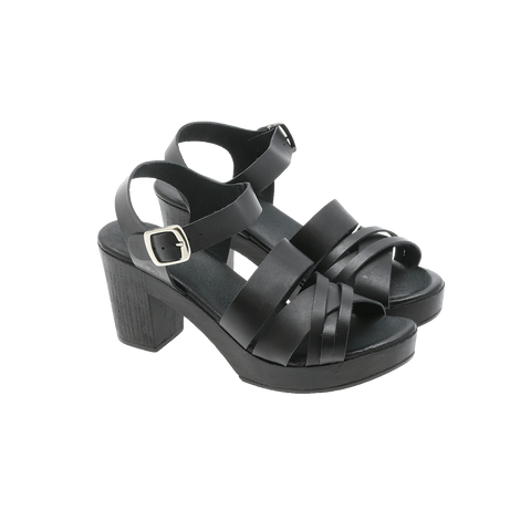 Effortless - P26 Vachetta multistrap sandal sort ♀