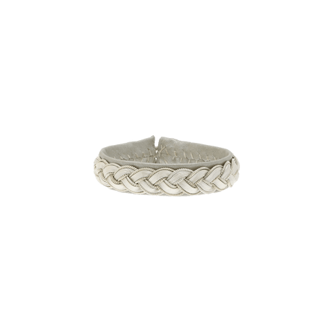 By Who - 100261 Bracelet braided lys grå ♀