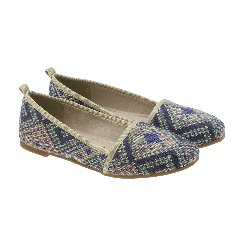 Tamaris - 24668 Slip-on ethnic marineblå ♀