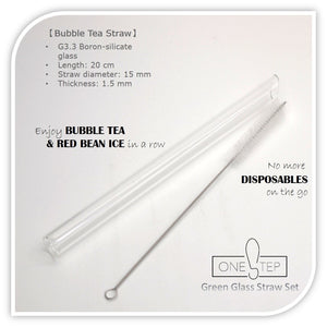 OneSTEP Glass Straw Set