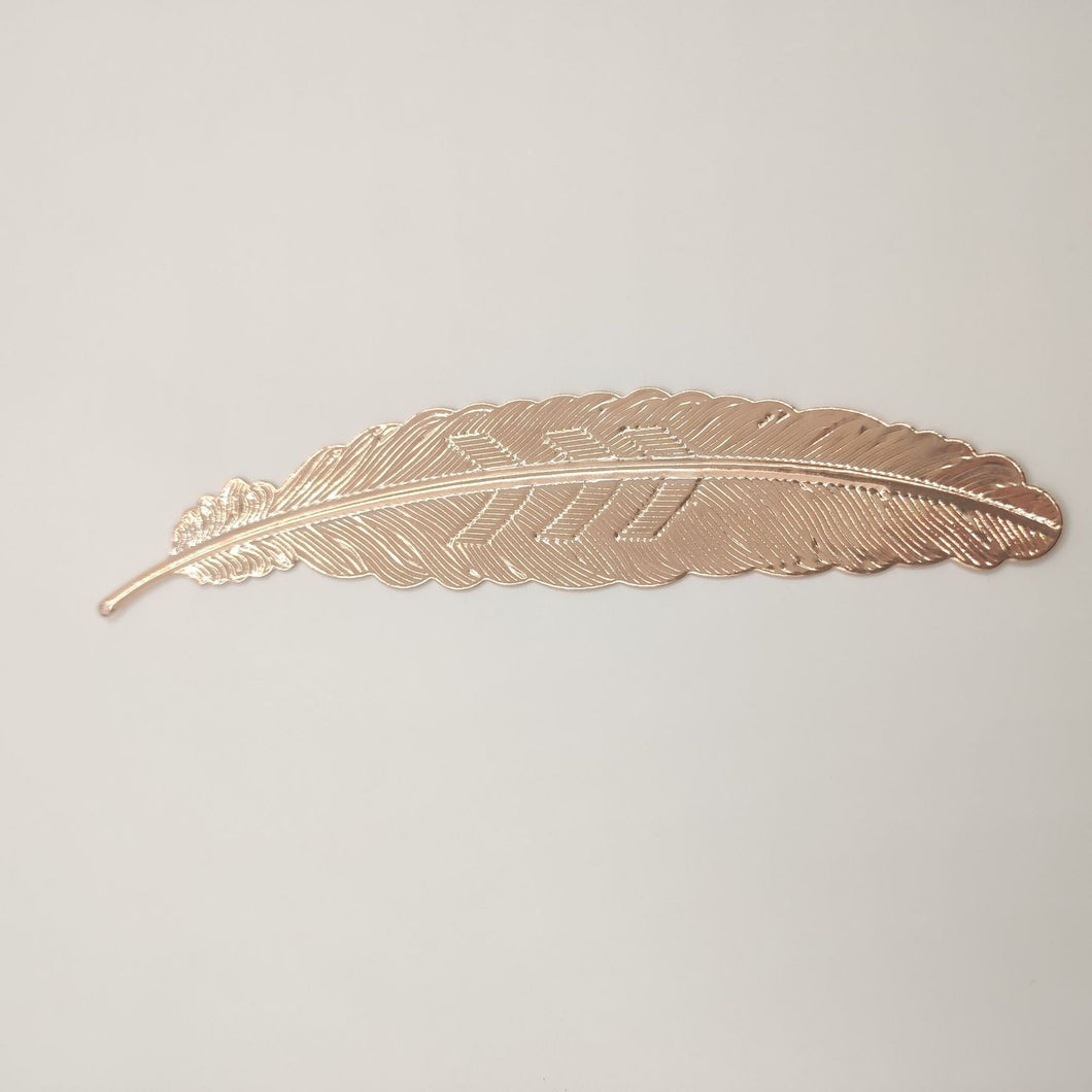 Zen Style Metal Feather Bookmark