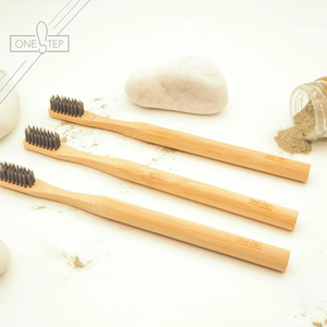 OneSTEP Bamboo Toothbrush (for Adult; Nylon Brush)