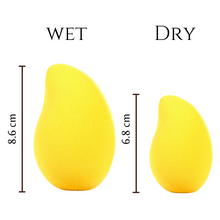 Reusable Mango Shaped Beauty Sponge (4 pcs)