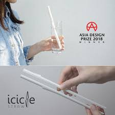 Icicle Straw Portable Split-able Straw (2 pcs/ pack)
