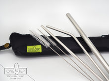 OneSTEP 304 Stainless Steel Straw Set