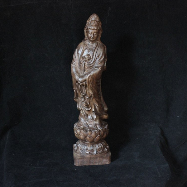 Wood Carving Guanyin Statue