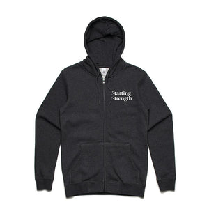 Starting Strength Zip-Up Hoodie - Gray