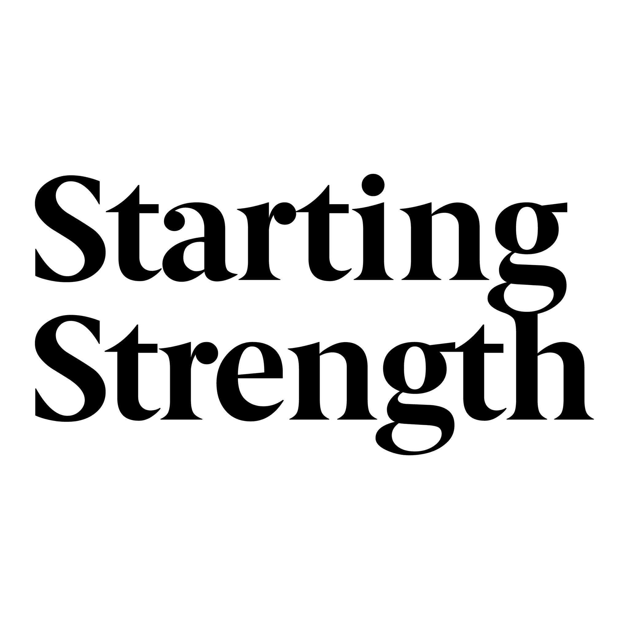 Starting Strength Press & Peel Sticker