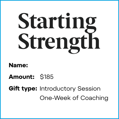Gift Card: One Week of Coaching