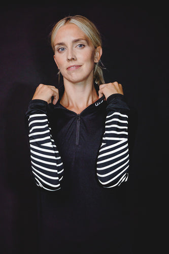 WOMEN'S REFLECTIVE LONG-SLEEVE BRITE STRIPE TOP