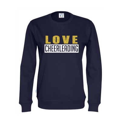 Cottover LOVE CHEERLEADING collegepaita (luomu)