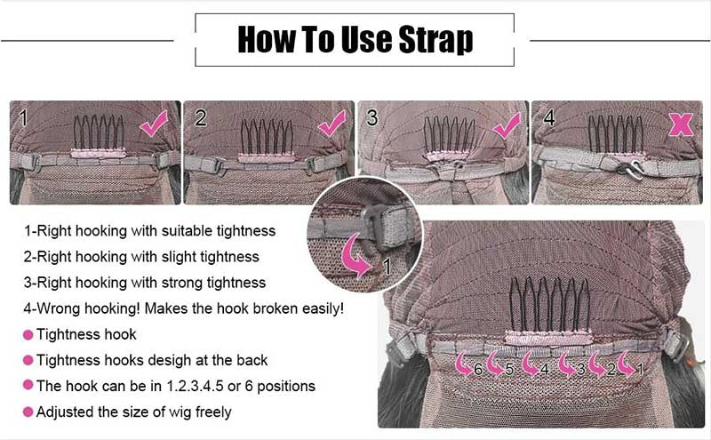 how to use wig straps