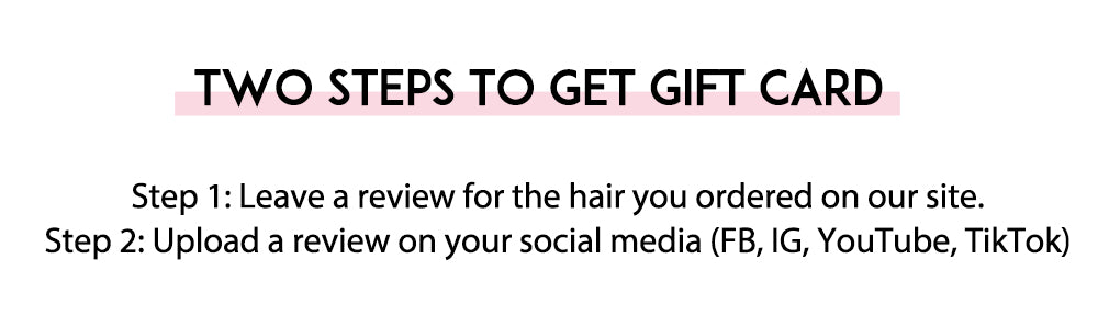 review kisslove hair to get free gift card