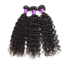 Load image into Gallery viewer, 9A kisslovehair Water Wave 3 Bundles with 4*4 Closure Remy Hair Weave